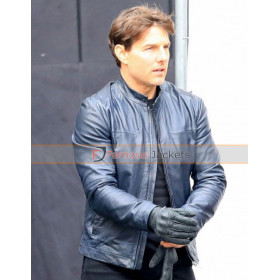 Ethan Hunt Mission Impossible 6 Tom Cruise Biker Leather Jacket
