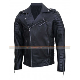 Prestige Homme MR18 Men's Black Biker Quilted Jacket
