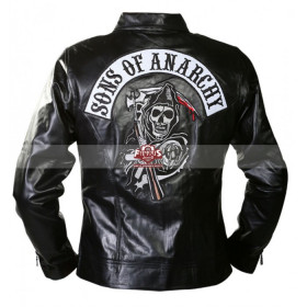 Sons of Anarchy Black Motorcycle Jacket With Patches