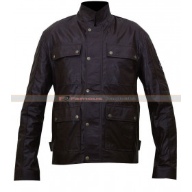 Triumph Lawford Motorcycle Black Leather Jacket
