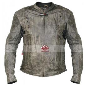 Vulcan Men's NF-8150 Distressed Biker Leather Jacket