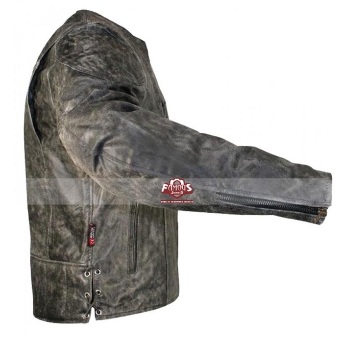b97fb2386 Vulcan Men's NF-8150 Distressed Biker Leather Jacket