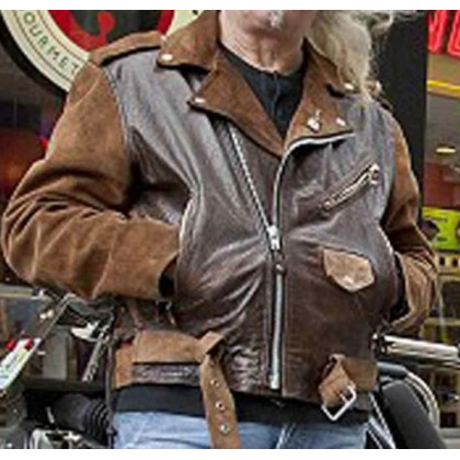 Billy Connolly Route 66 Motorcycle Leather Jacket