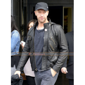 Coldplay Chris Martin Biker Leather Jacket