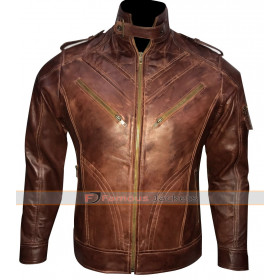 Motorcycle Dark Brown Quilted Leather Jacket