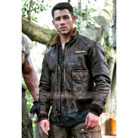 Nick Jonas Jumanji 2 Leather Jacket