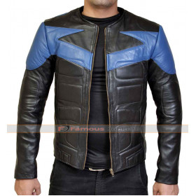 Nightwing Leather Motorcycle Jacket Costume For Sale