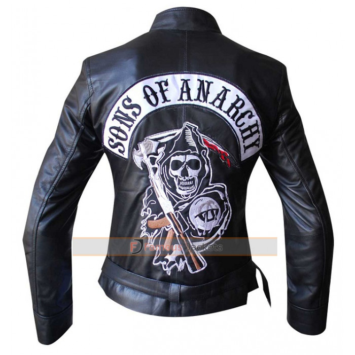 sons of anarchy reaper women 39 s highway jacket. Black Bedroom Furniture Sets. Home Design Ideas