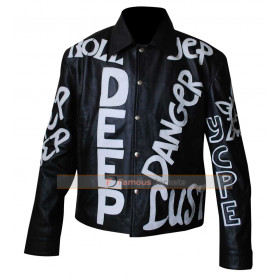Cool As Ice Vanilla Ice (Johnny) Black Biker Leather Jacket