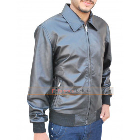 Arrow S3 Oliver Queen (Stephen Amell) Black Bomber Jacket