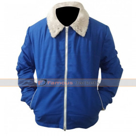 Bob Saginowski The Drop Blue Fur Jacket