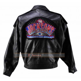 The Jacksons An American Dream Bomber Leather Jacket