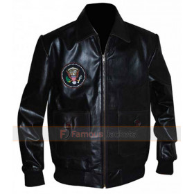 John F.Kennedy Bomber Leather Jacket