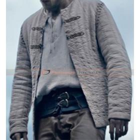 King Arthur Legend Sword Charlie Hunnam White Jacket