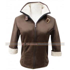 Overwatch Tracer Fanart Fur Brown Jacket