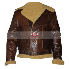 Polo Ralph Lauren Dover Shearling Bomber Brown Jacket
