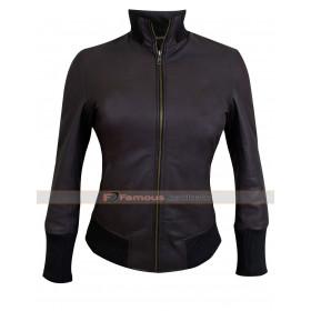 Emma Swan Brown Bomber Lambskin Leather Jacket
