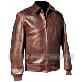 Happy Days Fonzie Bomber Brown Leather Jacket