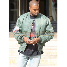 Kanye West Yeezus Tour Bomber Leather Jacket