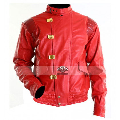 Akira Capsule Red Kaneda Pill Motorcycle Leather Jacket
