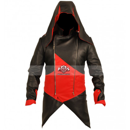 Connor Kenway Assassins Creed III Red/Black Cosplay Jacket