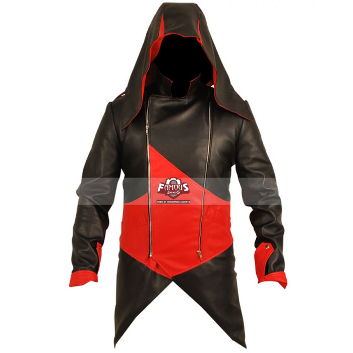 Connor Kenway Assassins Creed Iii Red Black Cosplay Jacket