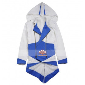 Connor Kenway Assassin's Creed 3 Blue White Costume