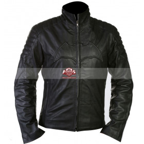Batman Begins Christian Bale Motorcycle Leather Jacket