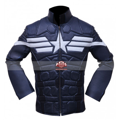 Captain America 2 Chris Evans Winter Soldier Cosplay Costume