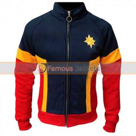 Captain Marvel Costume Fleece Tracksuit Jacket