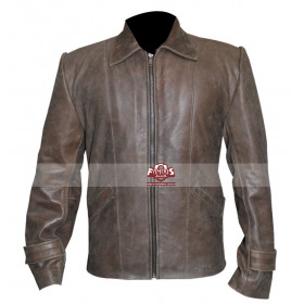 Skyfall James Bond (Daniel Craig) Brown Distressed Leather Jacket