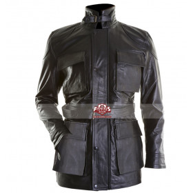 Dark Knight Rises Black Bane Fur Collar Jacket