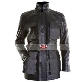Dark Knight Rises Black Bane Fur Collar Jacket