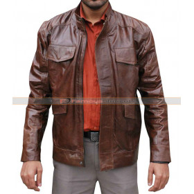 Day Break Detective Brett (Taye Diggs) Hopper Brown Leather Jacket