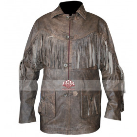 Deadfall Eric Bana (Addison) Fringe Distressed Brown Jacket