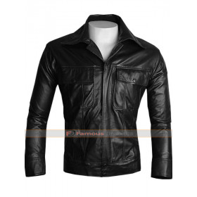 Elvis Presley The King Black Leather Jacket