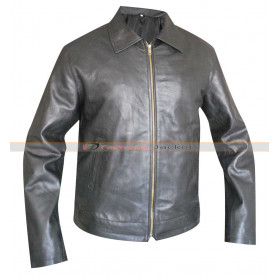 Faster Dwayne Johnson (Driver) Black Leather Jacket