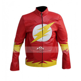 The Flash Red Cosplay Leather Jacket Costume
