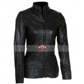 Bridget Moynahan (Susan Calvin) I Robot Black Leather Jacket