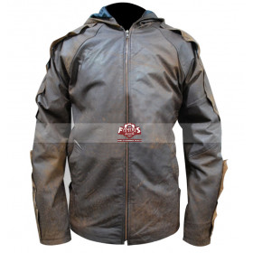 Jack The Giant Slayer Nicholas Hoult Hooded Distressed Jacket