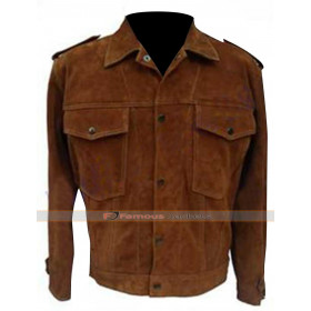 John Lennon Rubber Soul Brown Suede Leather Jacket