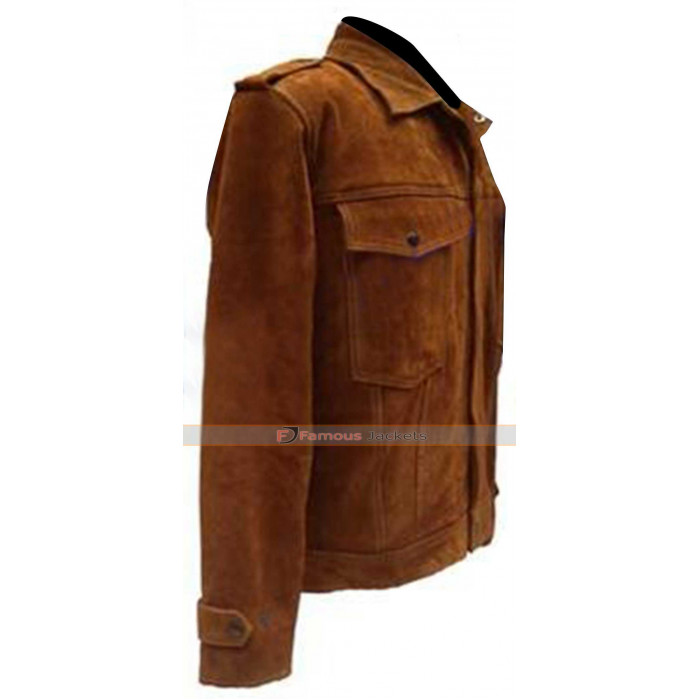 John Lennon Rubber Soul Album Leather Jacket Replica Imagine all the People Living Life in Peace
