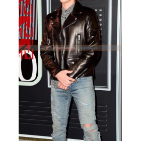 Justin Bieber MTV Video Music Awards (VMA) 2015 Leather Jacket