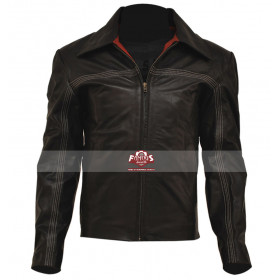 Layer Cake New Style Daniel Craig Black Leather Jacket