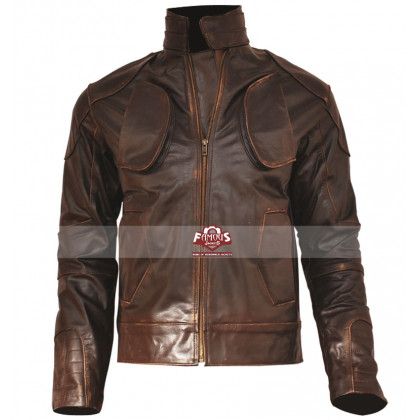 Lockout Guy Pearce (Snow) Distressed Leather Jacket