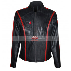 Mass Effect 3 Commander Shepard N7 Black Jacket