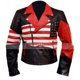 New American Flag Leather Jacket For Men
