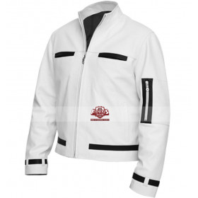 Panther White Sheep Leather Jacket