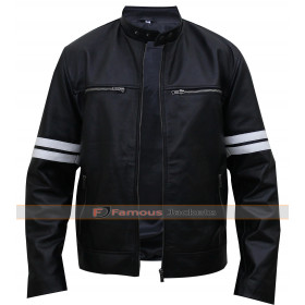 Paul Walker Black Biker Leather Jacket