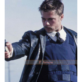 Se7en Brad Pitt (David Mills) Black Leather Jacket